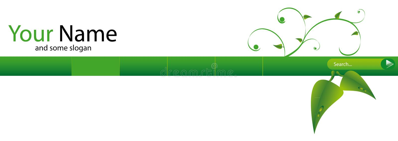 Intestazione verde di Web