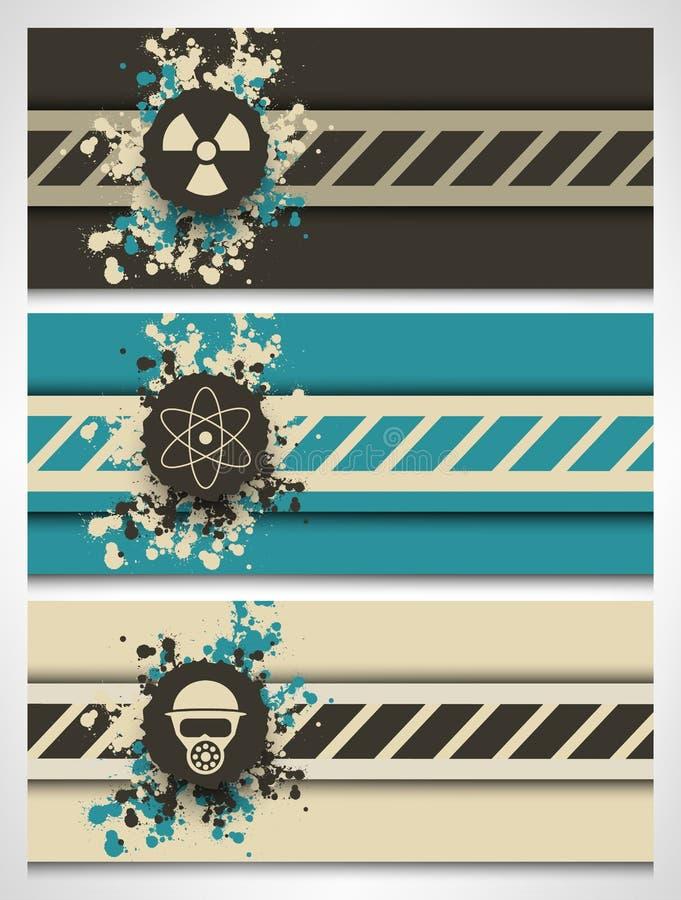 Intestazioni creative del sito Web di tecnologia nucleare illustrazione vettoriale