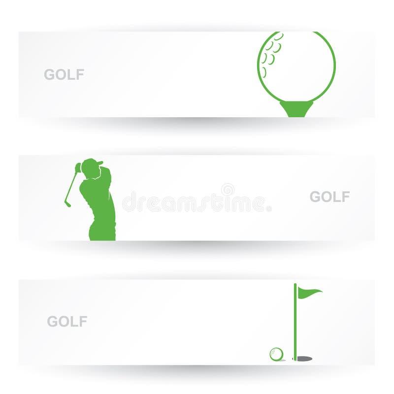 Intestazioni di golf illustrazione vettoriale