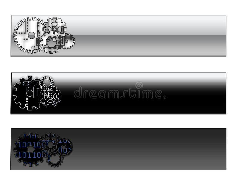 Intestazioni di pagina/bandiere di Web royalty illustrazione gratis