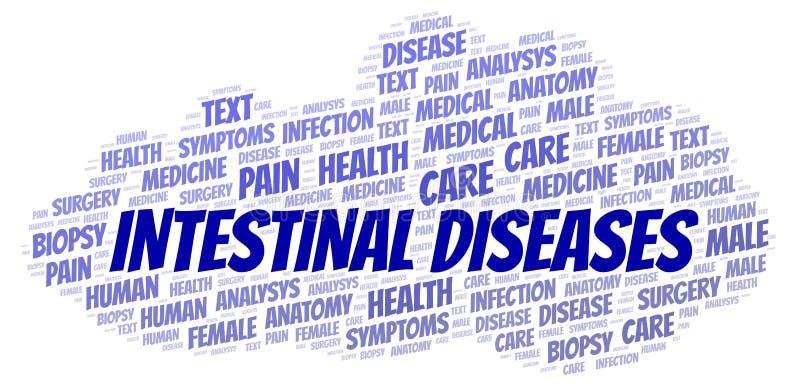 Intestinal Diseases word cloud stock illustration
