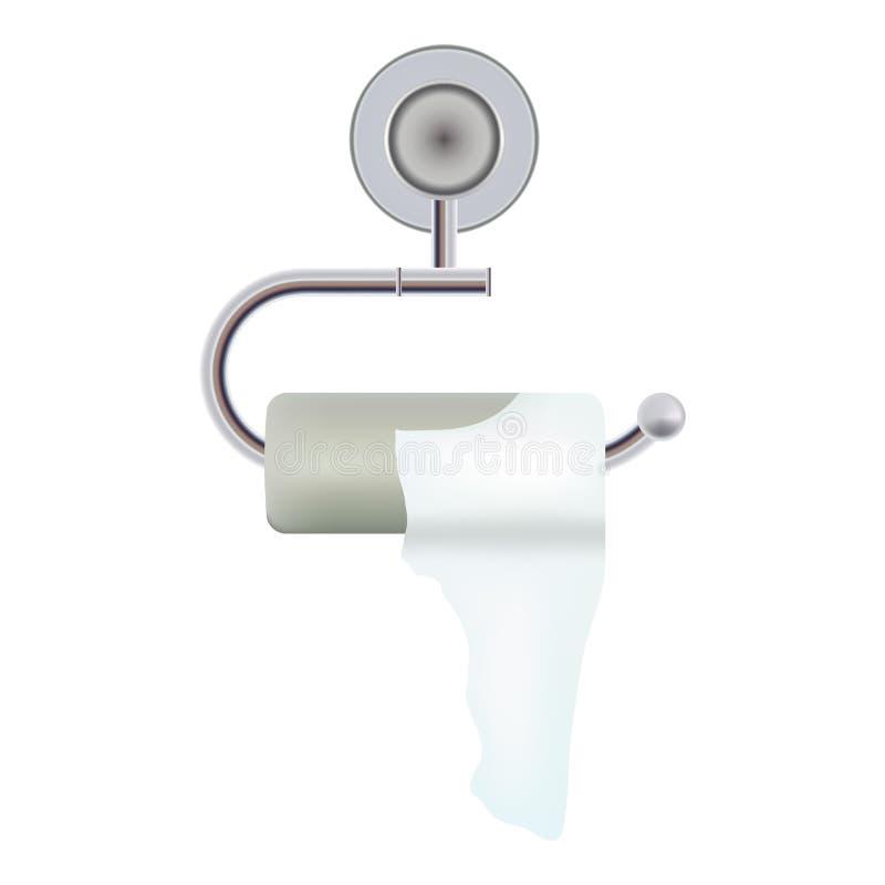 Intestinale Krankheiten, Diarrhöe Toilettenpapier mit dem Halter lokalisiert auf einem weißen Hintergrund Realistische vektorabbi lizenzfreie abbildung