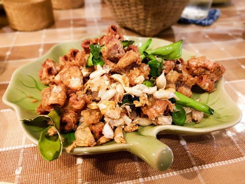 Intestins cuits à la friteuse de porc photo libre de droits