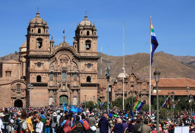 inti festiwal, Cuzco, Peru obraz royalty free