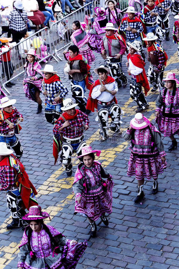 Inti Raymi Celebration Peru South Amerika 2015 stockfoto