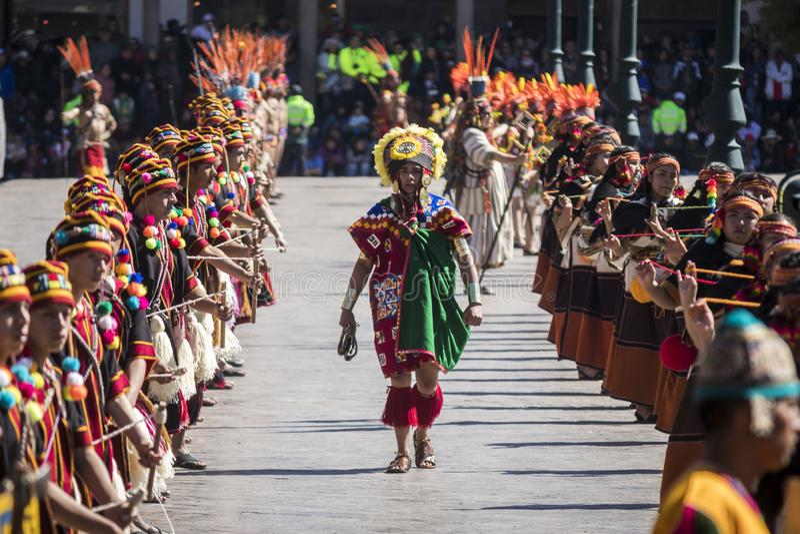 Inti Raymi 2019 Cusco, Peru obraz royalty free