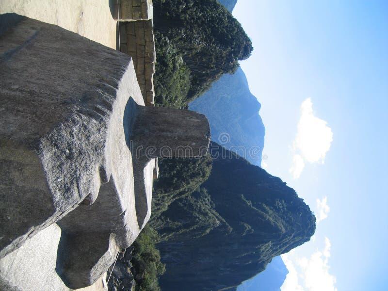 intihuatana machu picchu石头 库存照片