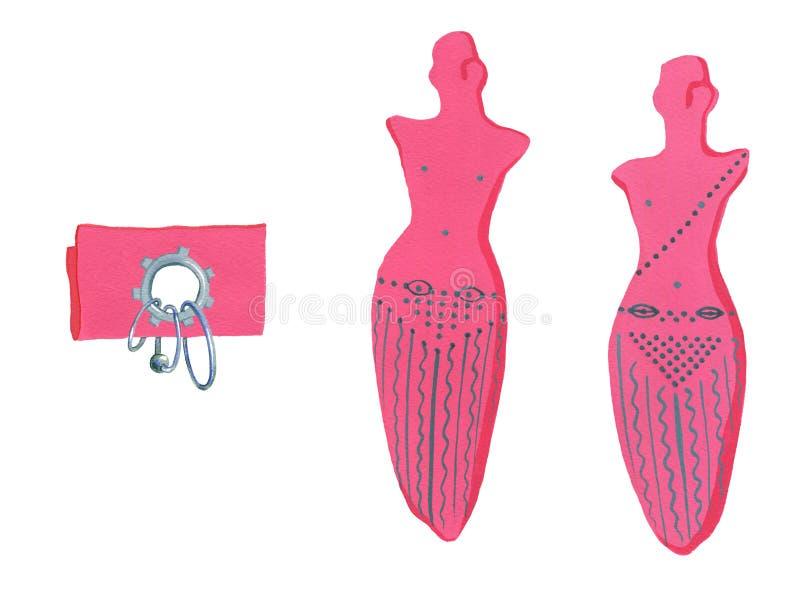 Intim frisyr royaltyfri illustrationer