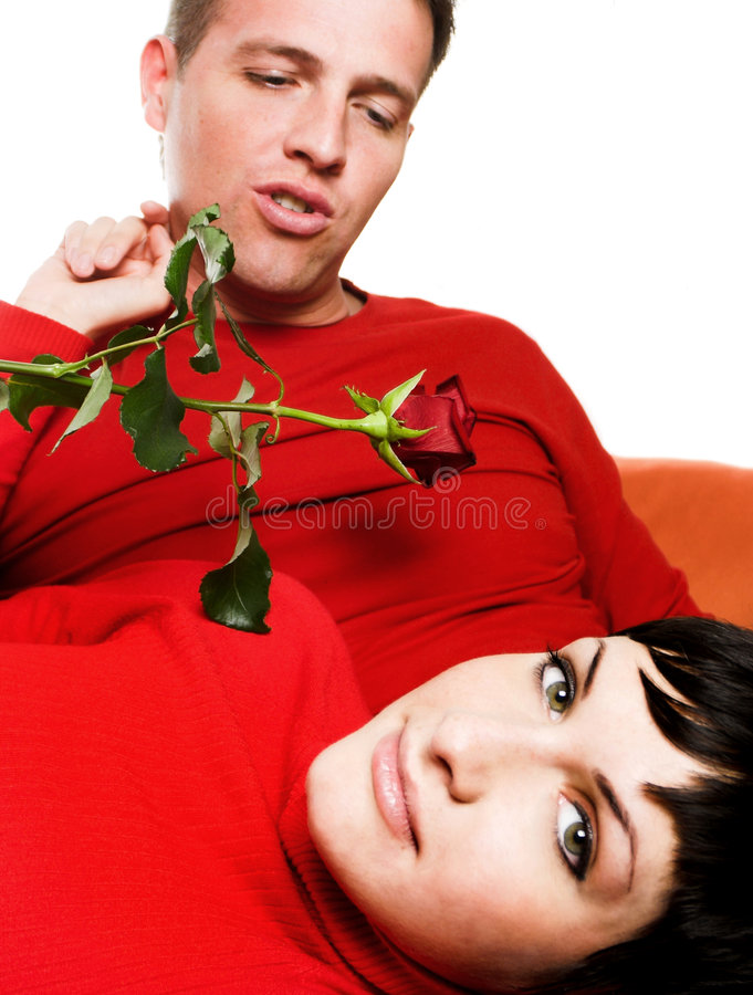 Intimate moment stock photography