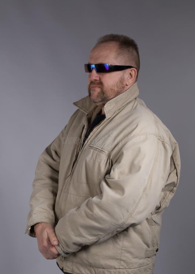 Download Intimidating bodyguard stock photo. Image of folds, grey - 8956114