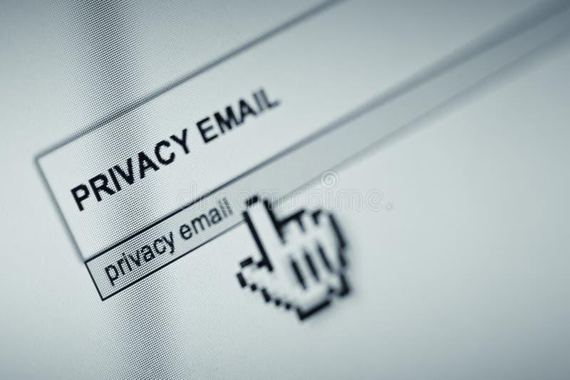 Intimité d'email images stock