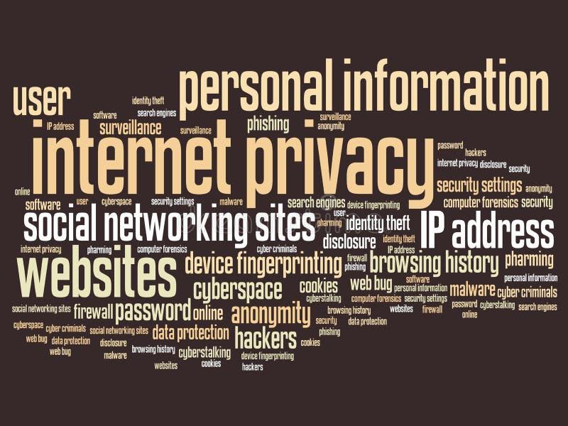 Intimité d'Internet illustration libre de droits