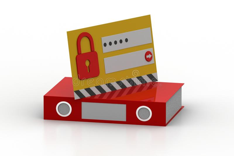 intimité et protection des données illustration de vecteur