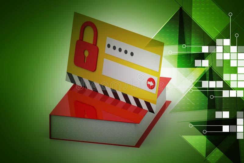 intimité et protection des données illustration stock