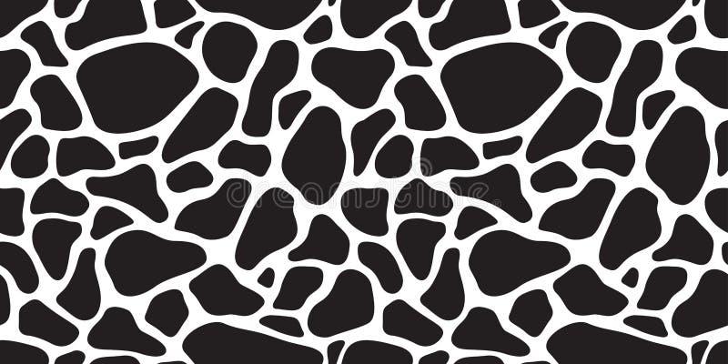 Intimorisca il cammuffamento del fondo della carta da parati della giraffa della zebra di struttura isolato cane senza cuciture d royalty illustrazione gratis