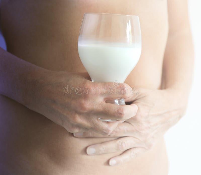 Intolérance au lactose de lait photo stock
