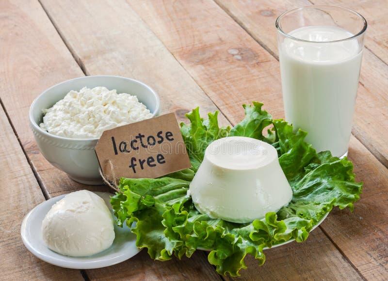 Intolérance sans lactose photo stock