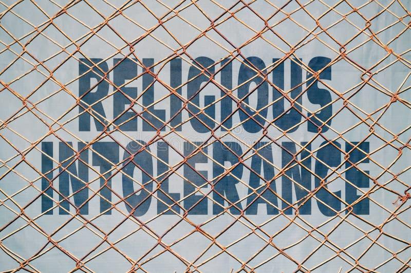 Intolerancia religiosa imágenes de archivo libres de regalías