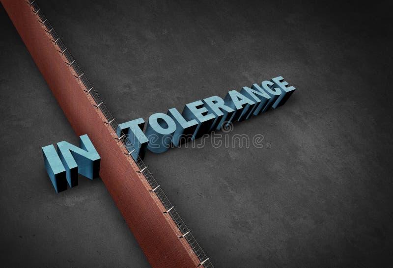 Intolerans begrepp stock illustrationer