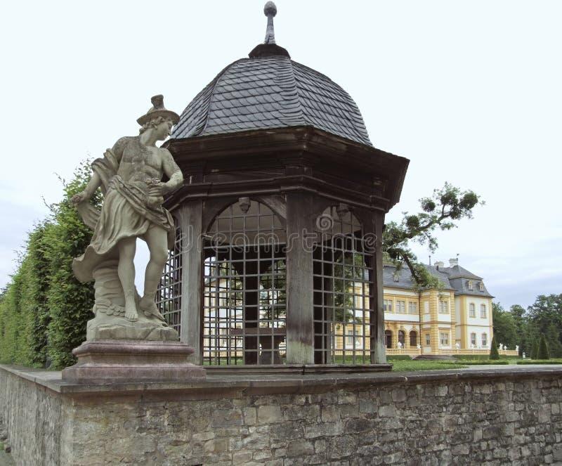 Intorno al castello Veitshoechheim immagine stock libera da diritti