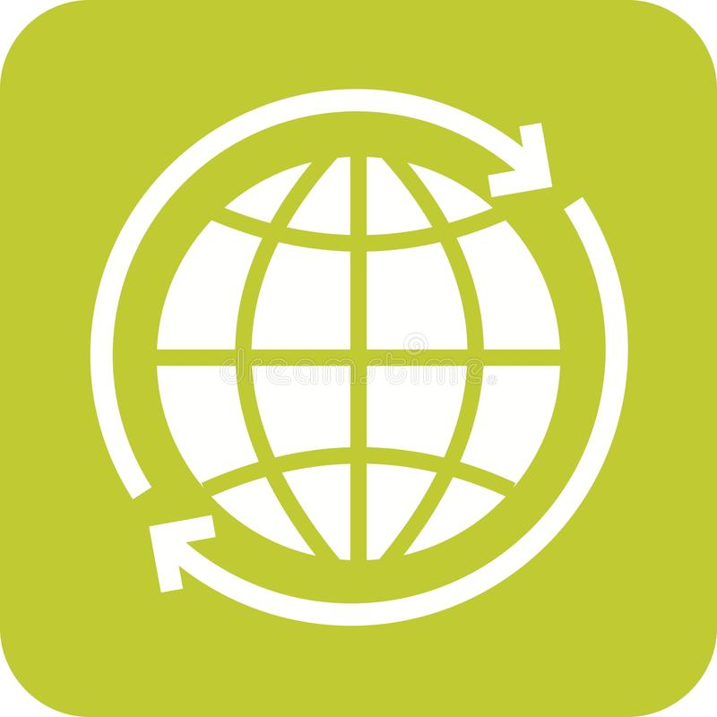 Intorno al collegamento del globo illustrazione vettoriale