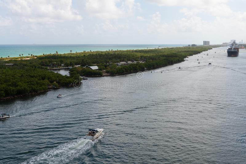 intracoastal waterway fotografering för bildbyråer