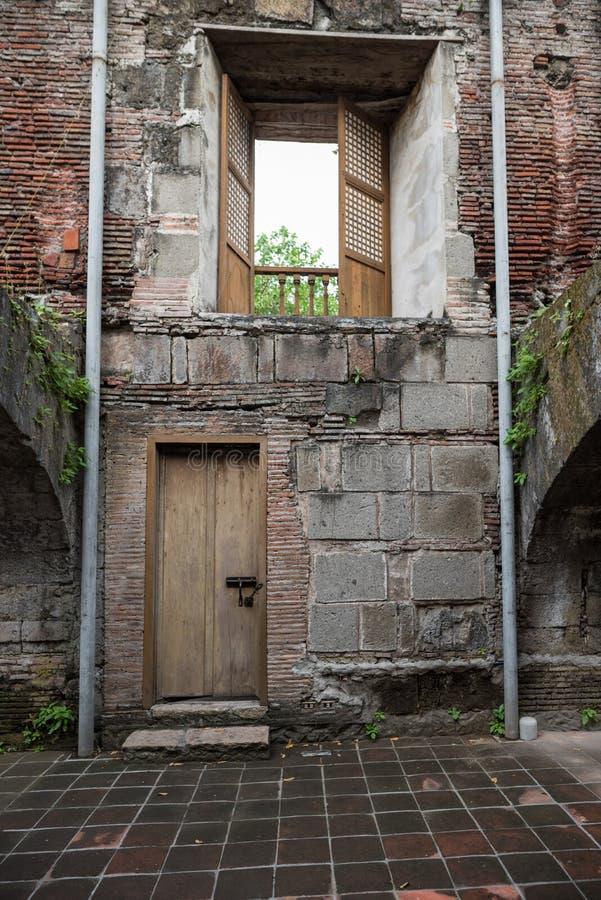 Intramuros binnenland Het fort Santiago is een citadel door Spaanse conquistador, Miguel LÃ ³ pez DE dat eerst Legazpi wordt gebo stock afbeelding