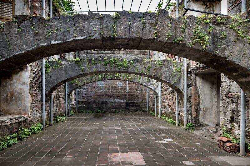Intramuros binnenland Het fort Santiago is een citadel door Spaanse conquistador, Miguel LÃ ³ pez DE dat eerst Legazpi wordt gebo stock fotografie