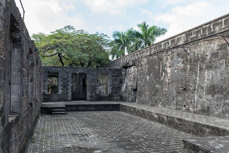 Intramuros Het fort Santiago is een citadel door Spaanse conquistador eerst wordt gebouwd die stock afbeelding