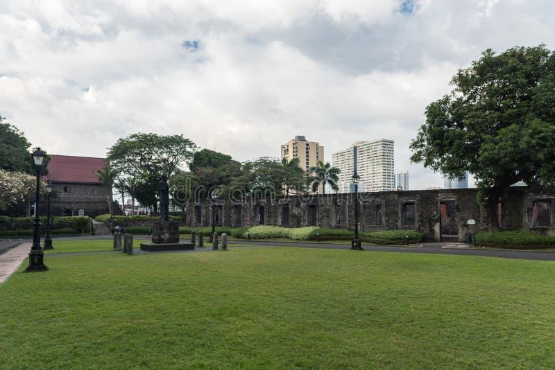 Intramuros Het fort Santiago is een citadel door Spaanse conquistador, Miguel LÃ ³ pez DE dat eerst Legazpi wordt gebouwd royalty-vrije stock foto