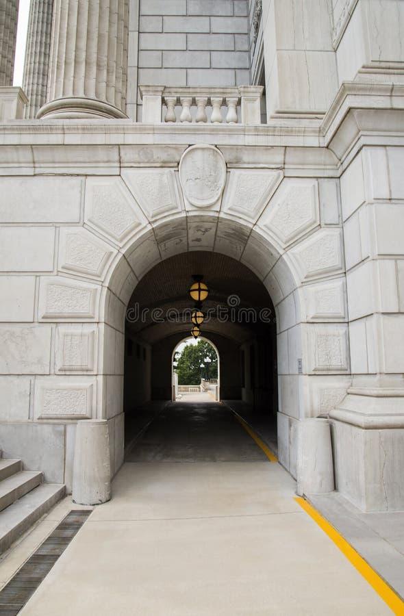 Intrance del livello più basso del capitale dello Stato del Missouri immagine stock libera da diritti