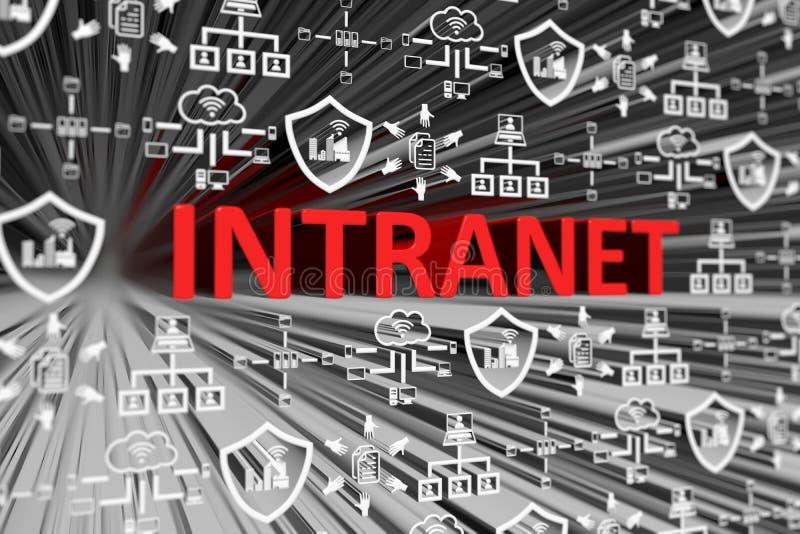 INTRANET concept blurred background. 3d render illustration vector illustration