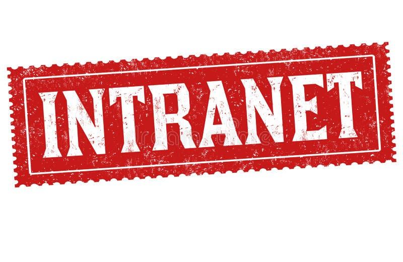 Intranet sign or stamp. On white background, vector illustration stock illustration