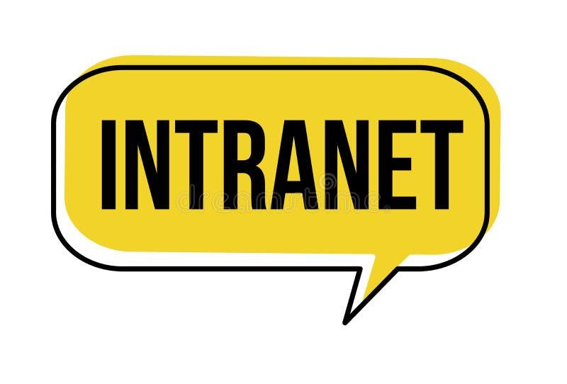 Intranet speech bubble. On white background, vector illustration royalty free illustration