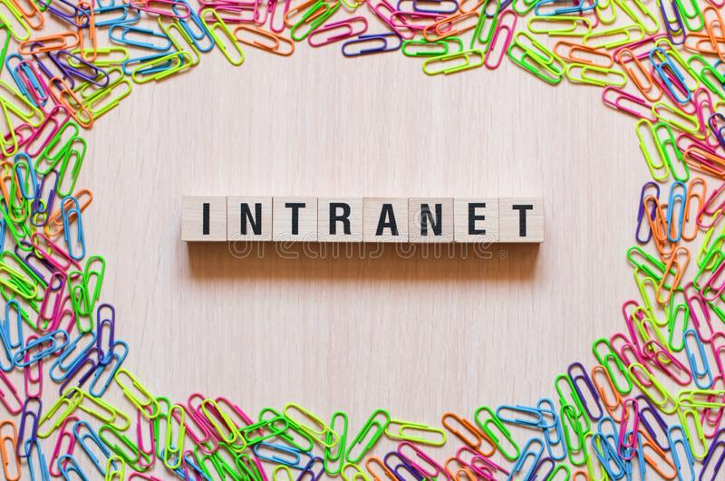 Intranet word concept royalty free stock photography