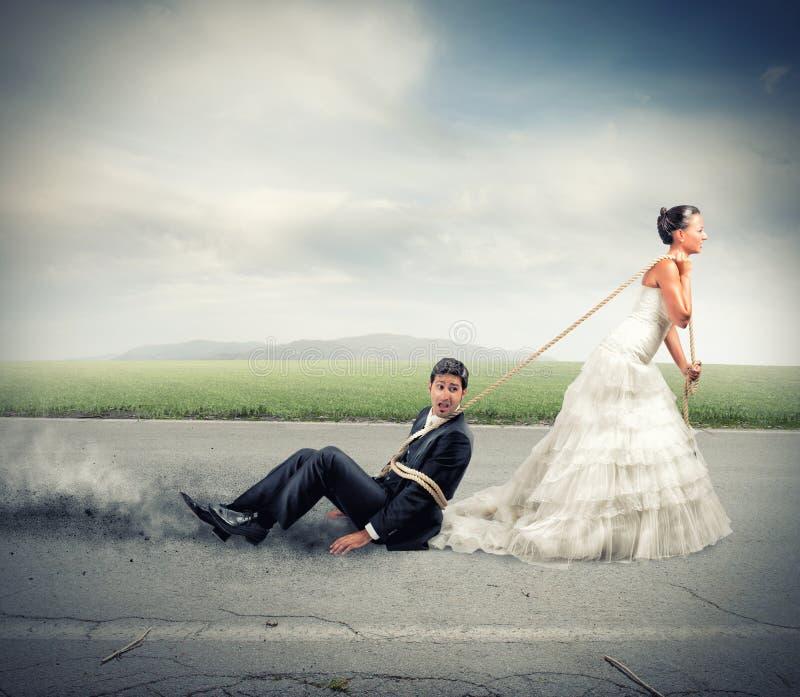 Intrappolato dal matrimonio immagini stock