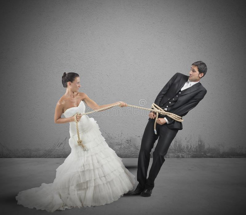 Intrappolato dal matrimonio immagine stock