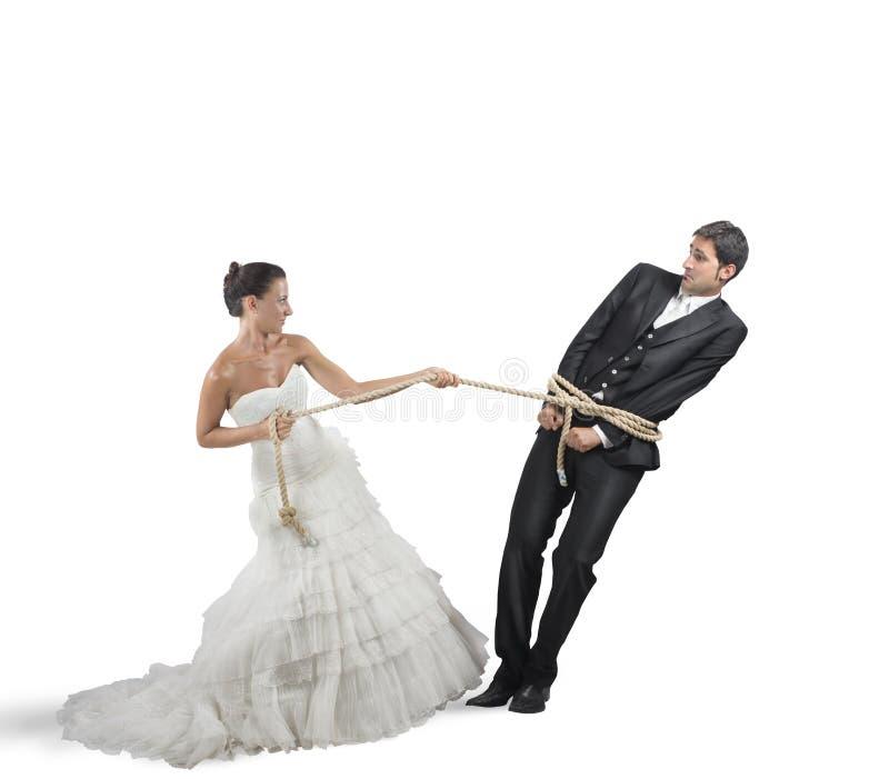 Intrappolato dal matrimonio immagini stock libere da diritti
