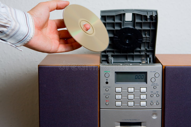 Intrattenimento di musica di riproduttore di CD immagini stock