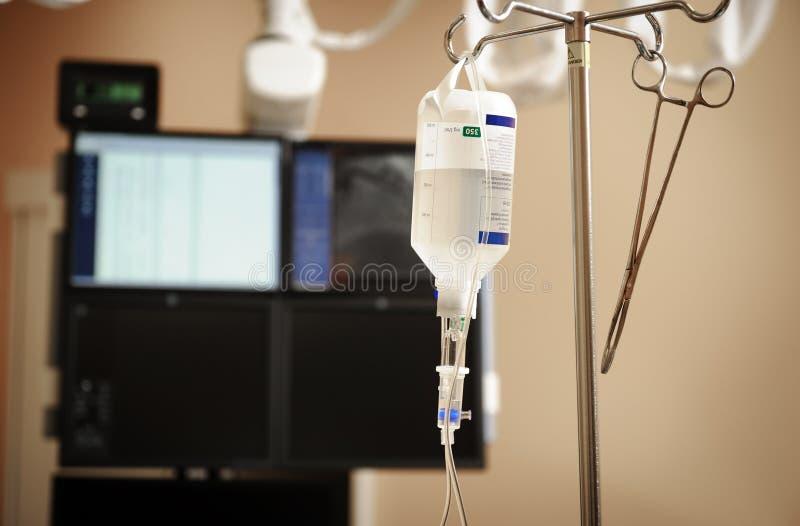 Intravenöses Tropfenfängersystem stockfoto