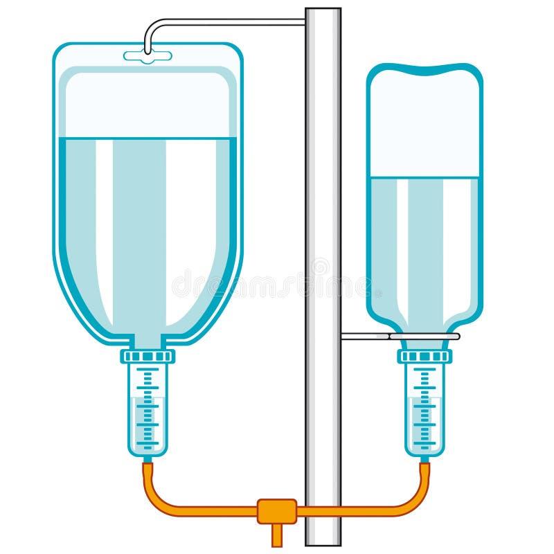 Intraveneus druppelbuisje stock illustratie