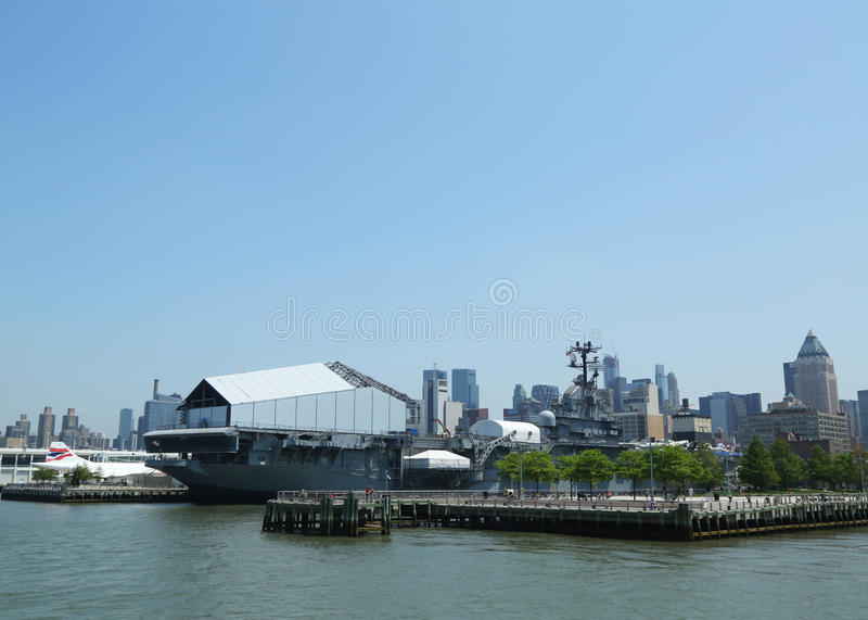 Intrepid Sea, Air and Space Museum in New York royalty free stock photos
