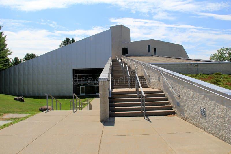 Intressant modern arkitektur, Tang Museum, Saratoga Springs, New York, 2016 arkivfoto