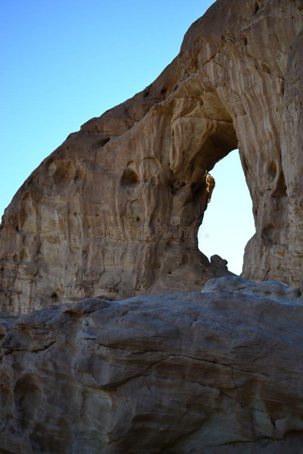 Intressera vagga bildande i Timna parkerar, den Negev öknen, vildmark i södra Israel, Eilat royaltyfri bild