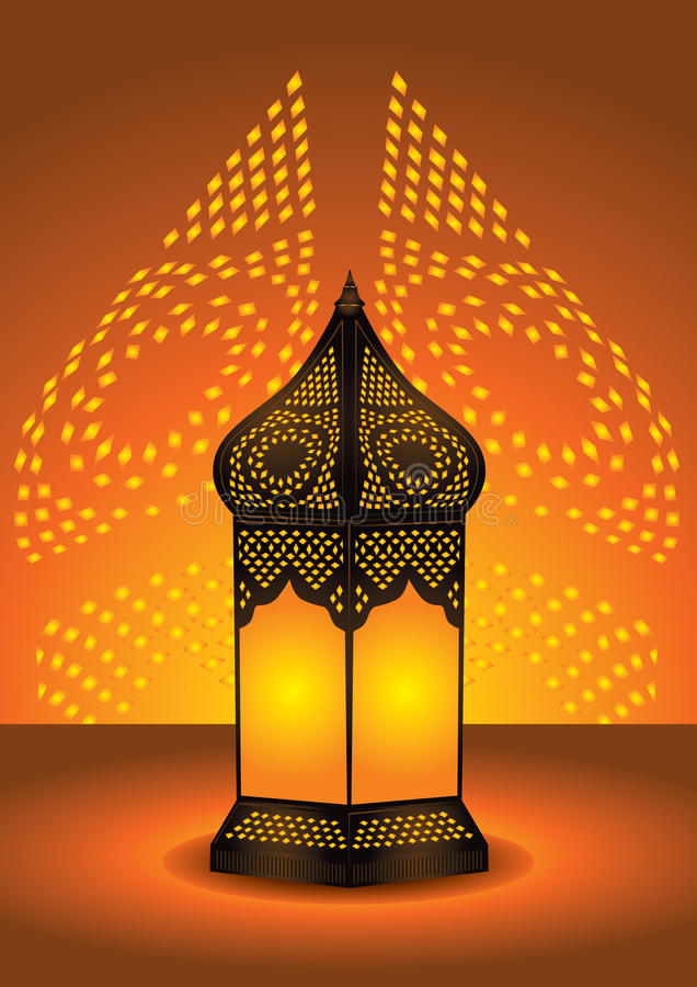 Download Intricate Arabic Floor Lamp Stock Vector - Illustration: 10801203