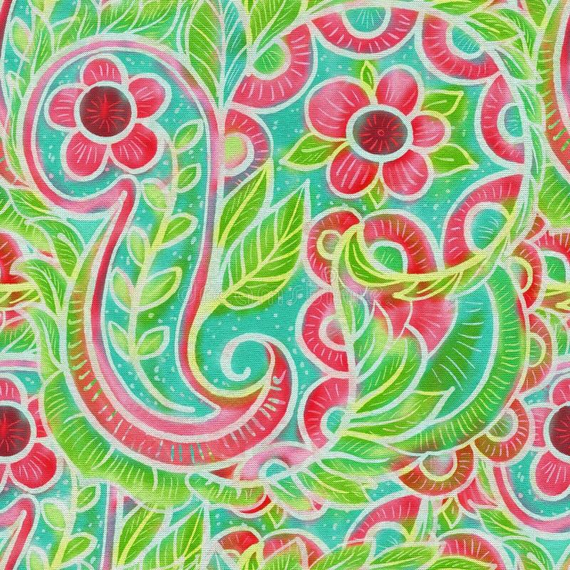 The intricate batik pattern royalty free illustration
