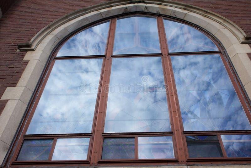 Intricate Blue Church Window stock photography