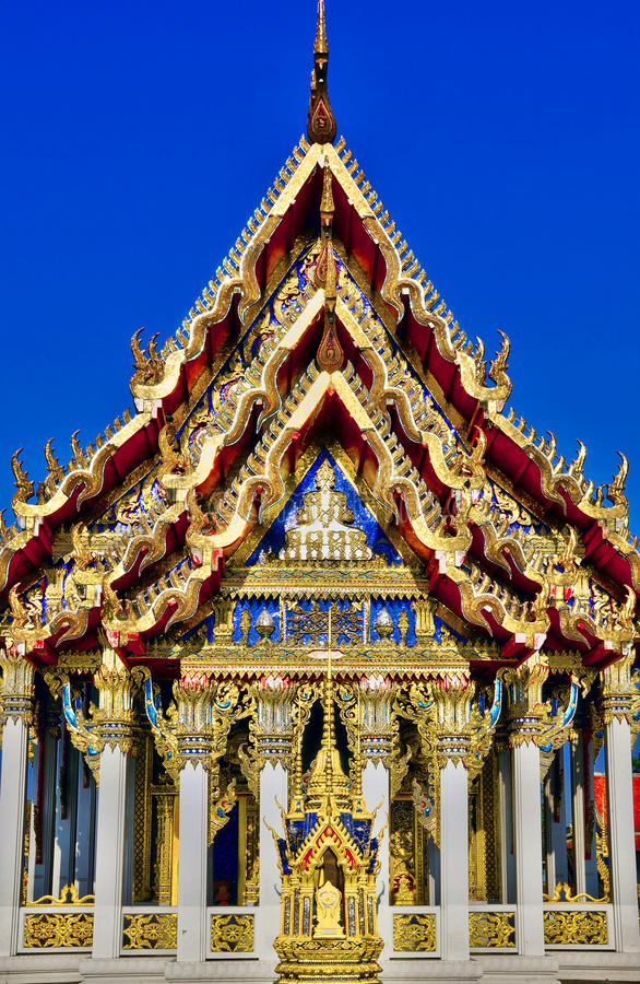 Intricate Buddhist architecture royalty free stock photography
