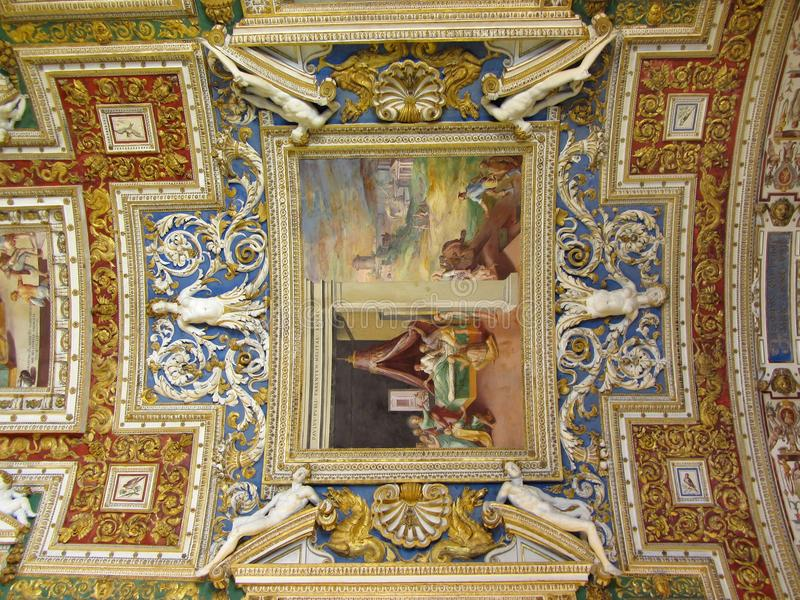 Intricate Ceiling Artwork royalty free stock photography