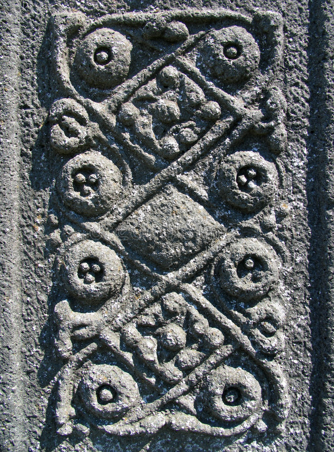 Intricate Celtic carving